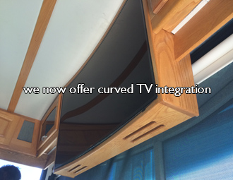 Curved TV Design-RV Decor