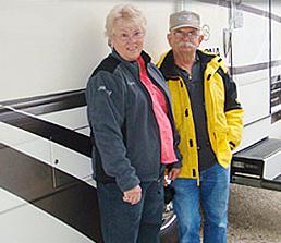 Jim and Coral Sanchez at RV Décor
