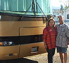 Joe and Penelope Romero at RV Décor