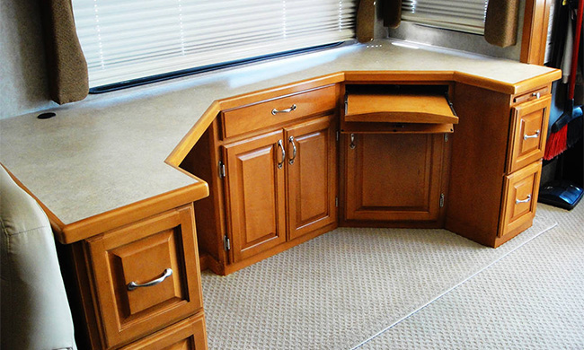 Custom RV Cabinetry & Storage Arizona